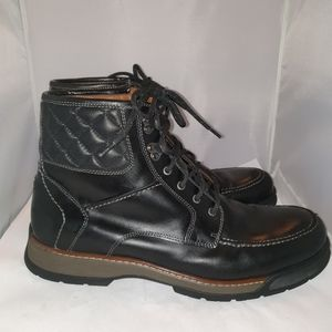 Johnston& Murphy size 12 Men boots black